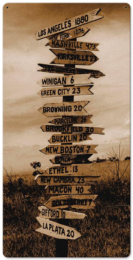 Cross Roads Vintage Sign