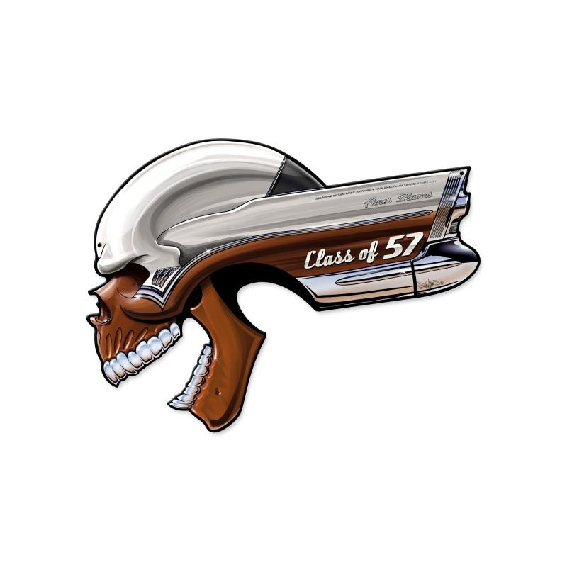 Buick Skull Class Of '57 Vintage Sign