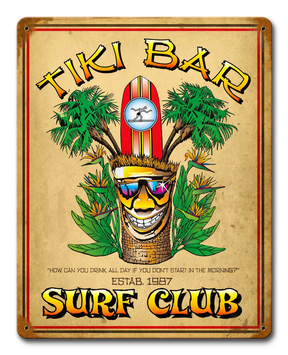 Tiki Bar Vintage Sign