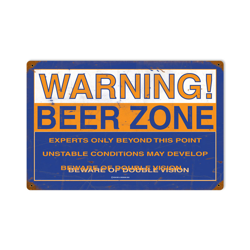 Beer Zone Vintage Sign