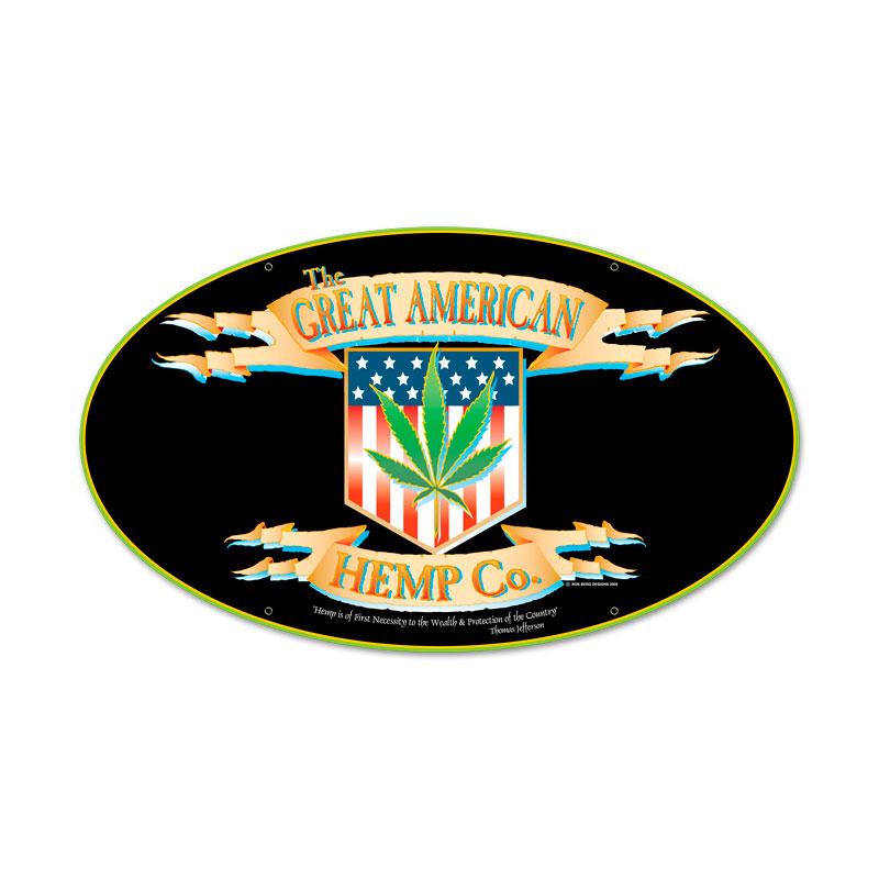 American Hemp Vintage Sign