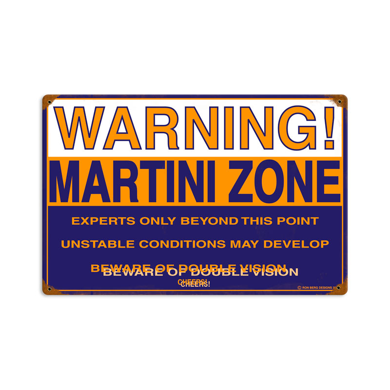 Martini Zone Vintage Sign