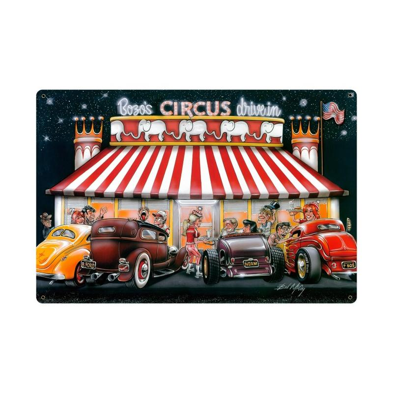 Circus Drive In Vintage Sign