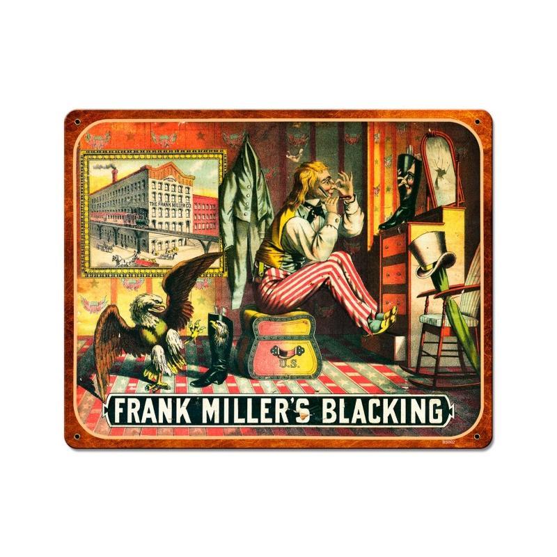 Frank Miller Blackening Vintage Sign
