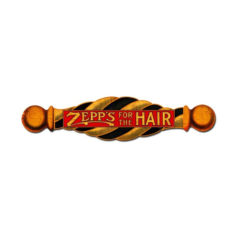 Zepp's For The Hair Vintage Sign