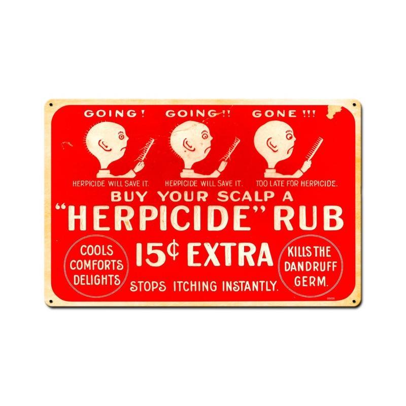Herpicide Vintage Sign