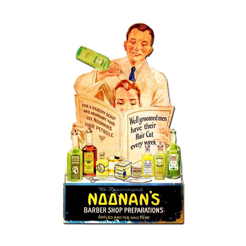 Noonan's Barber Shop Vintage Sign