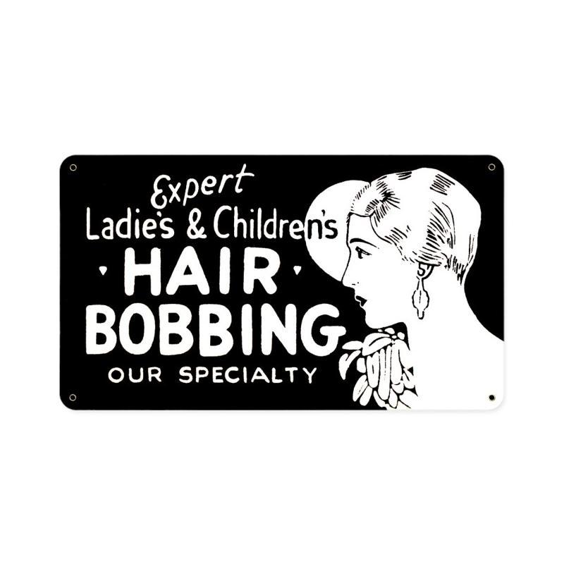 Hair Bobbing Vintage Sign
