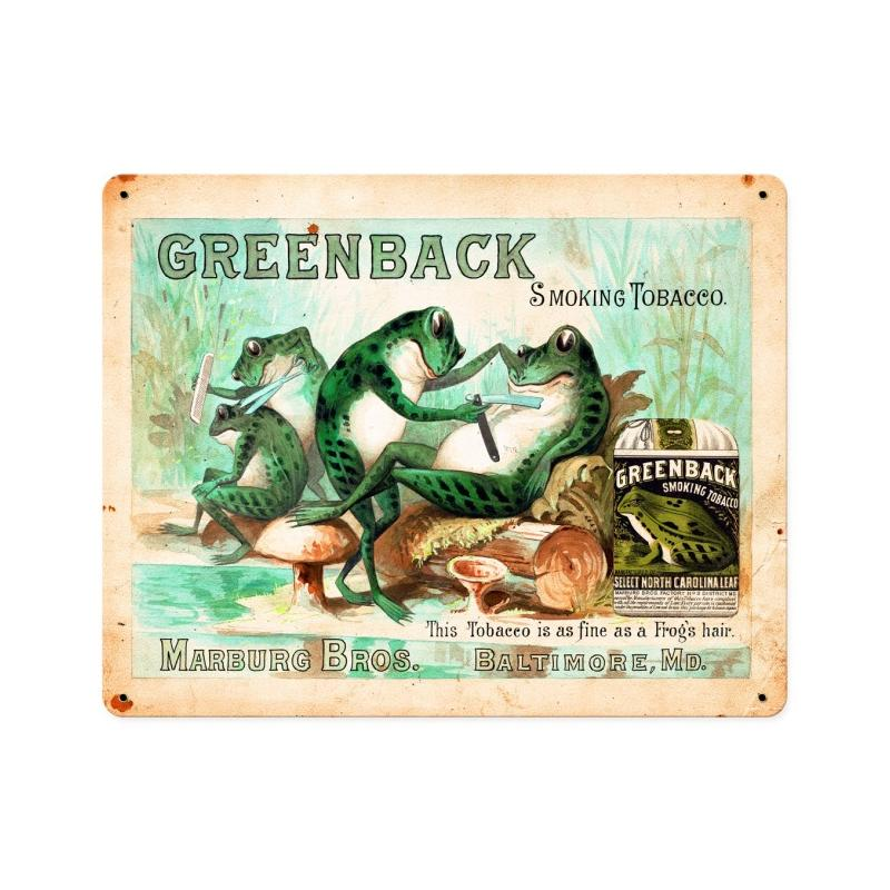 Greenback Smoking Tobacco Vintage Sign
