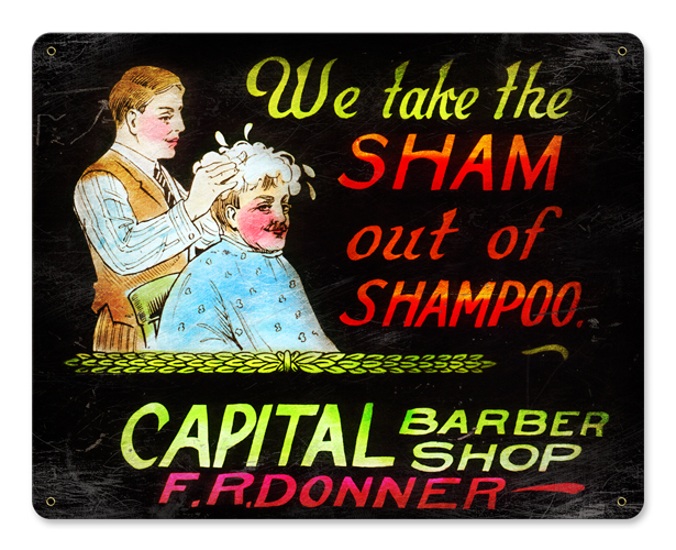 We Take The Sham Vintage Sign
