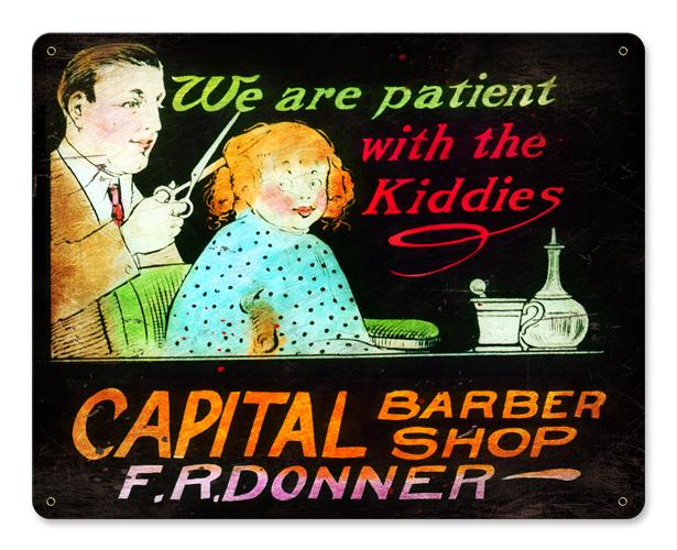 We Are Patient Vintage Sign