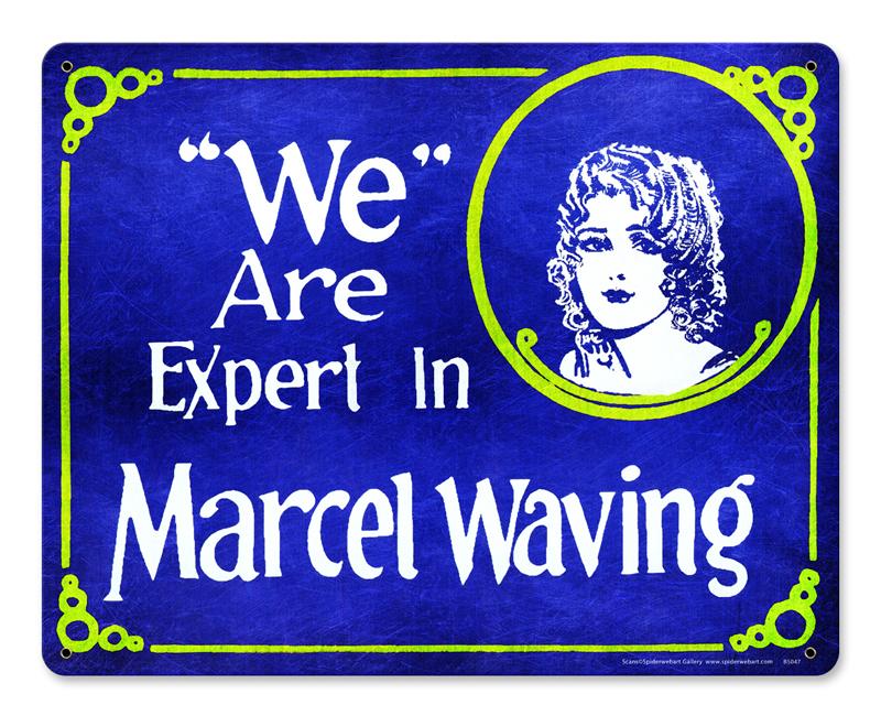 Marcel Waving Vintage Sign