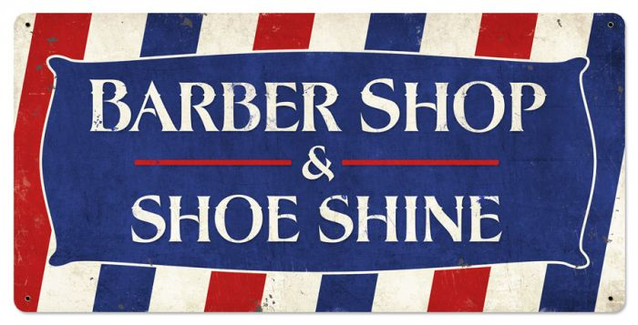 Barber Shop & Shoeshine Vintage Sign