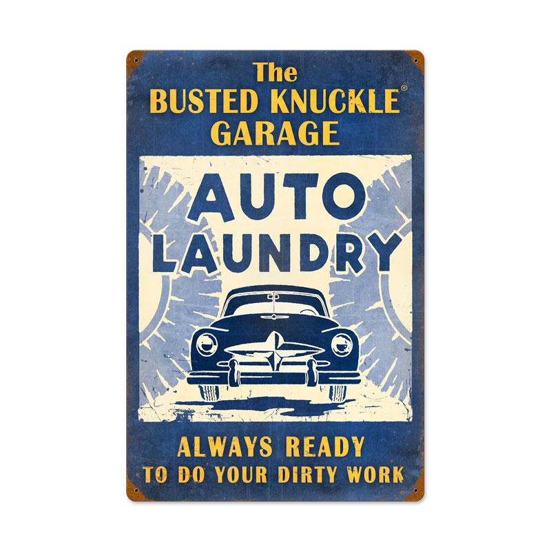 Auto Laundry Vintage Sign