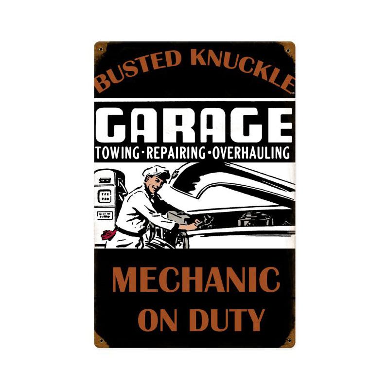 Mechanic On Duty Vintage Sign