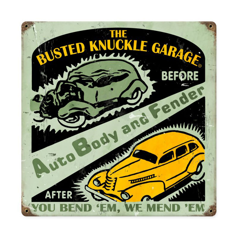 Auto Body Shop Vintage Sign