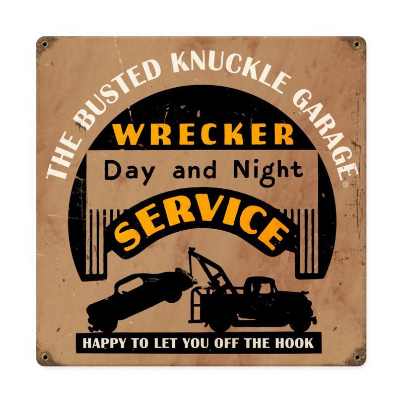 Wrecker Service Vintage Sign