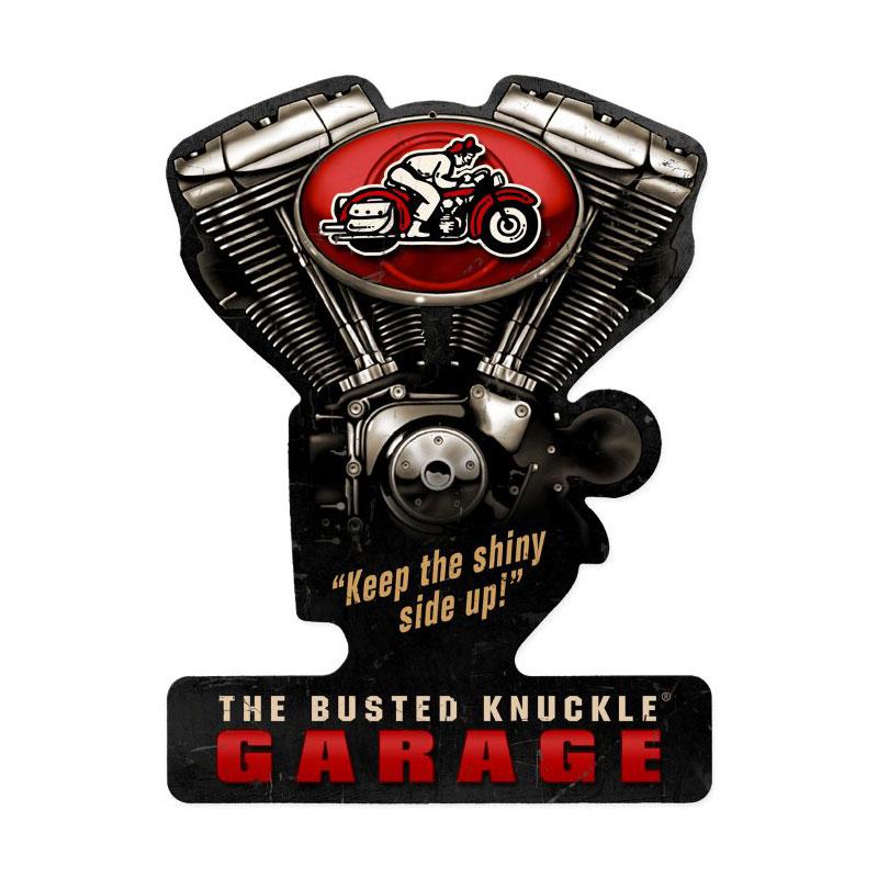 Busted Knuckle Garage Vintage Sign
