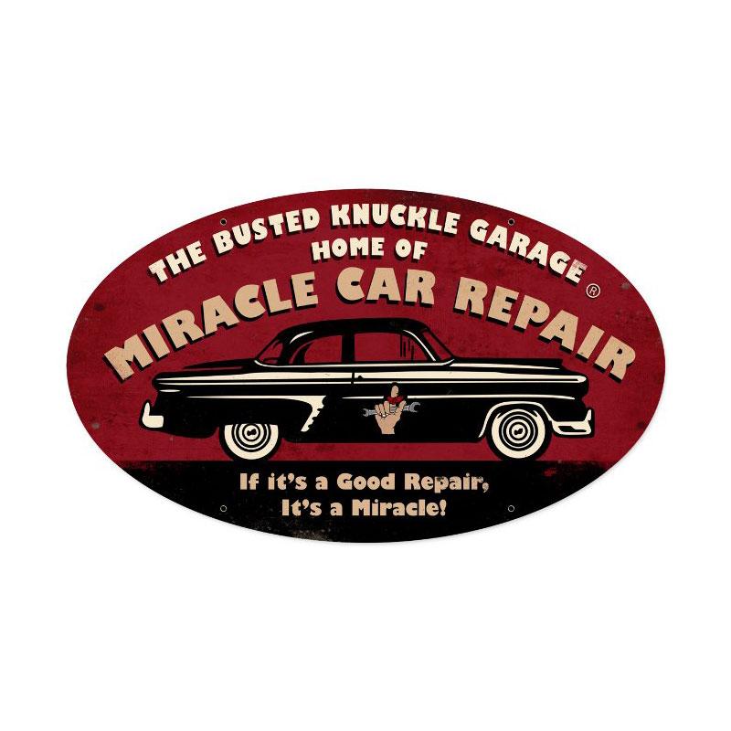 Miracle Repair Vintage Sign