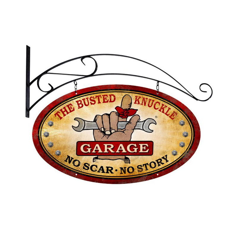Busted Knuckle Garage Vintage Sign