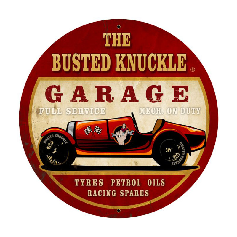 Old Race Car Vintage Sign