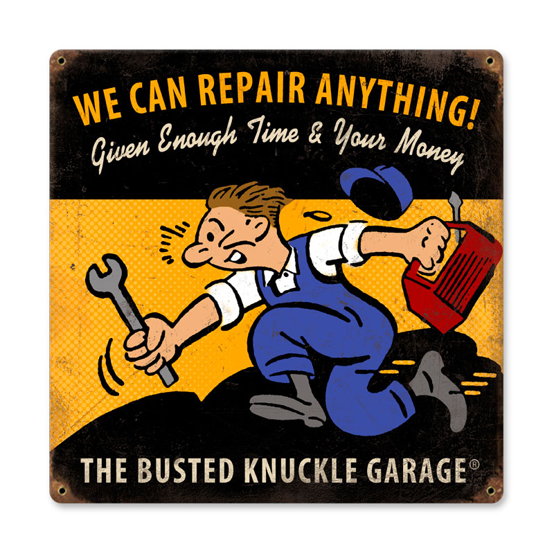 We Can Repair Anything Vintage Sign