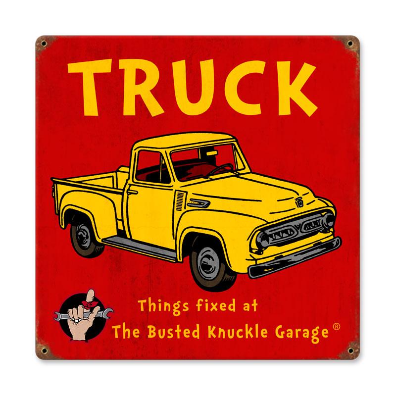 Kids Truck Vintage Sign