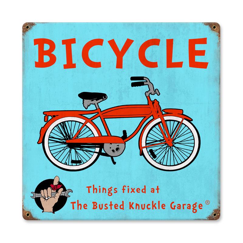 Kids Bicycle Vintage Sign