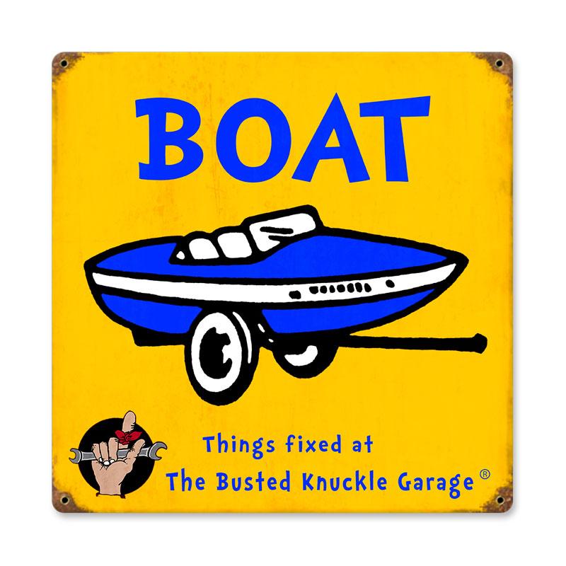 Kids Boat Vintage Sign