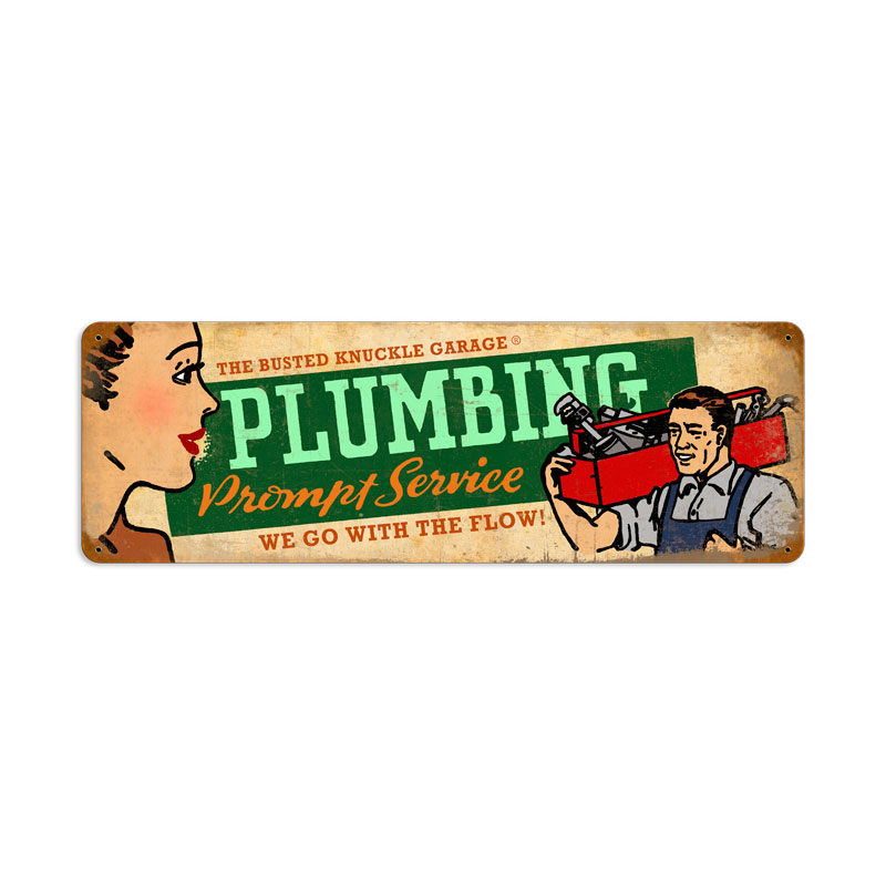 Plumbing Service Vintage Sign