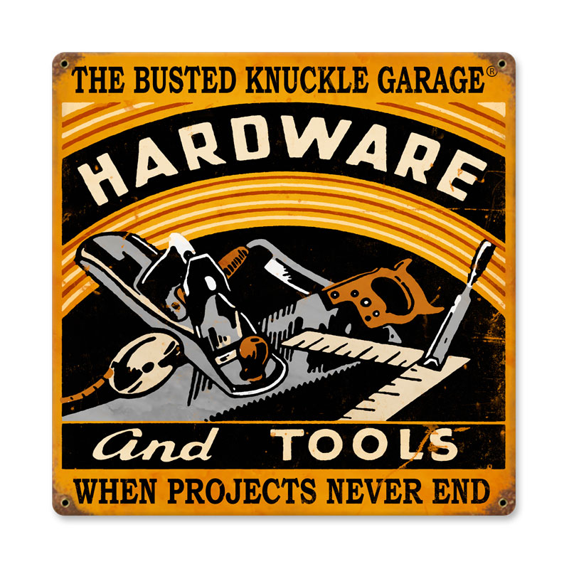 Hardware And Tools Vintage Sign