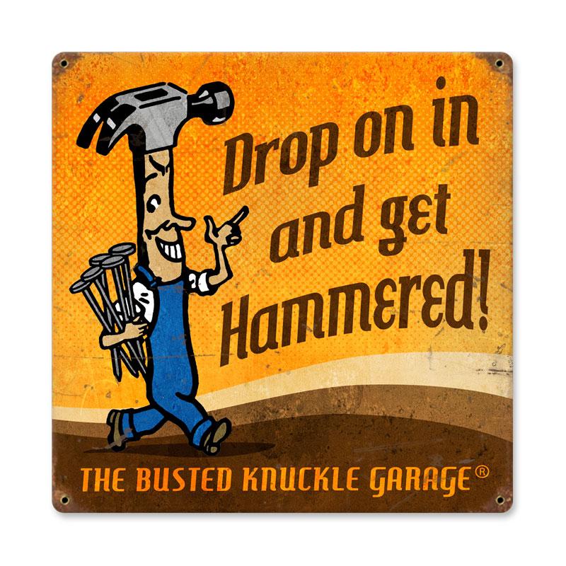 Get Hammered Vintage Sign