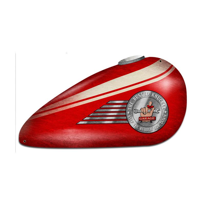 Red Motorcycle Tank Vintage Sign