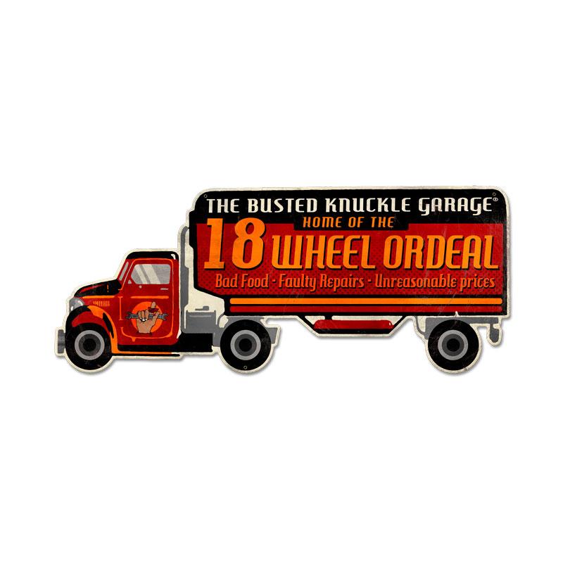 Eighteen Wheel Ordeal Vintage Sign