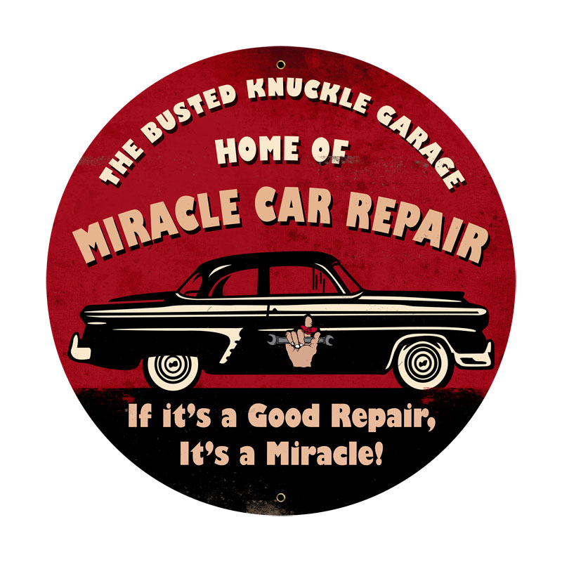 Miracle Car Repair Vintage Sign