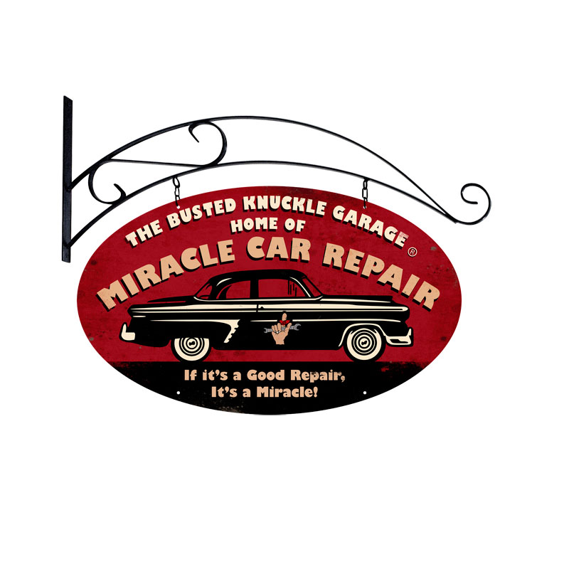 Miracle Car Repair Vintage Sign