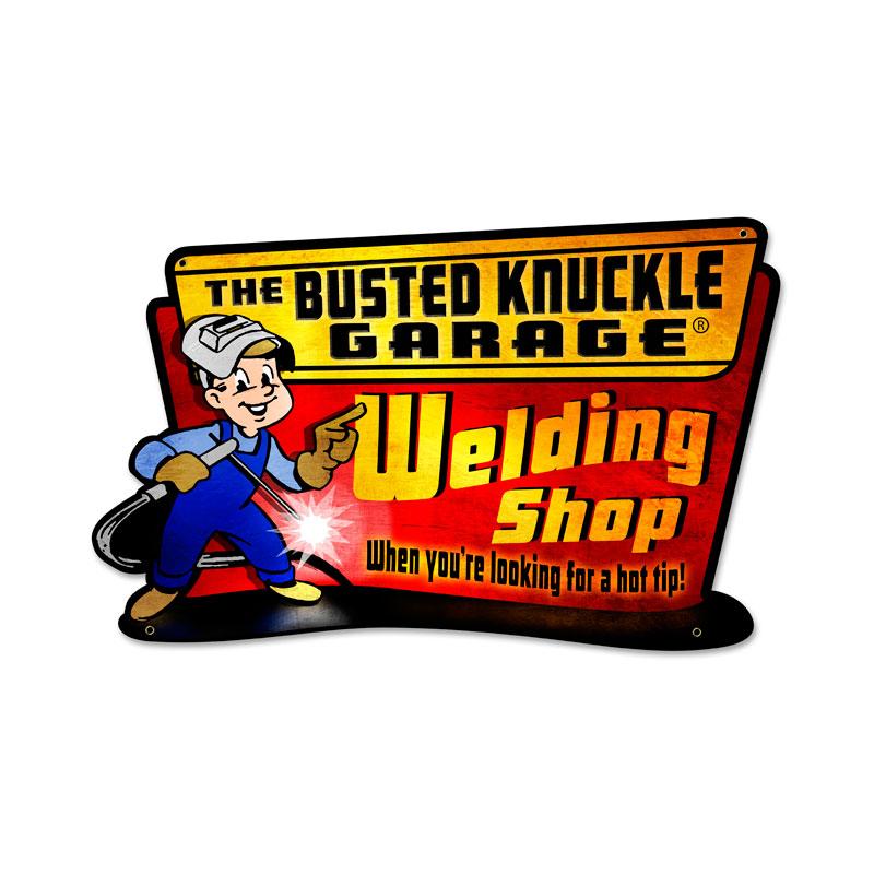 Welding Hot Tip Vintage Sign