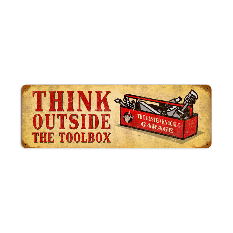 Outside The Toolbox Vintage Sign