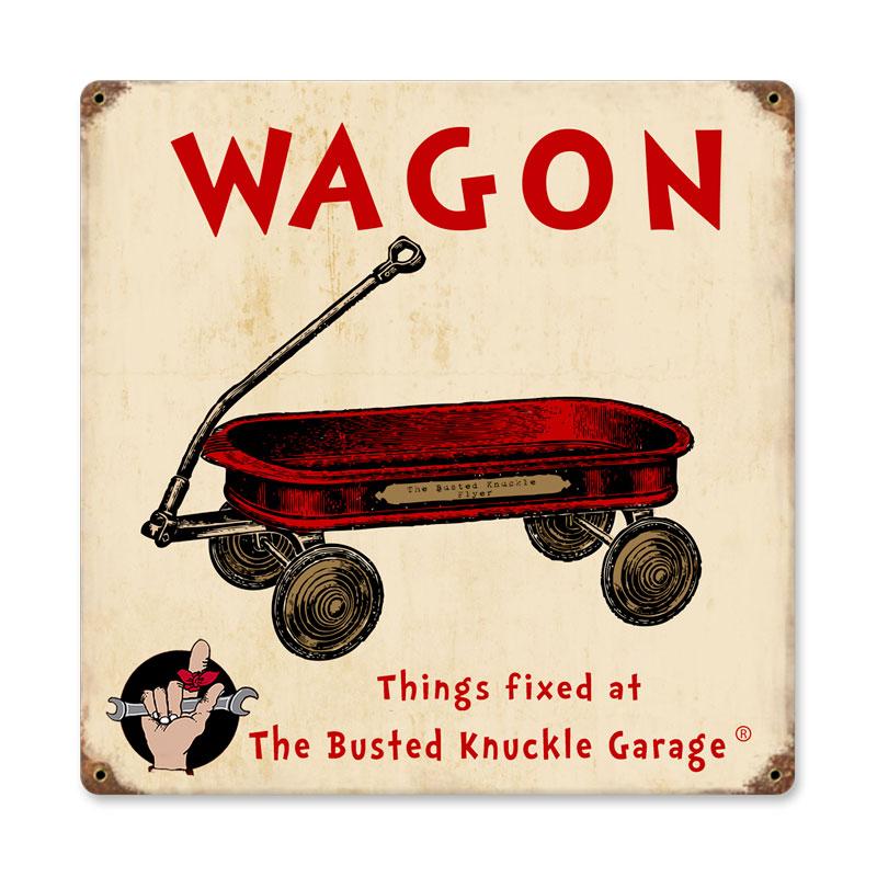 Kids Wagon Vintage Sign