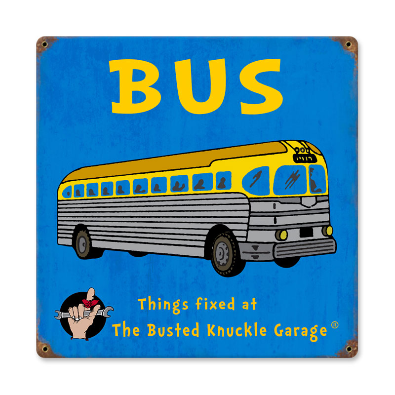 Kids Bus Vintage Sign