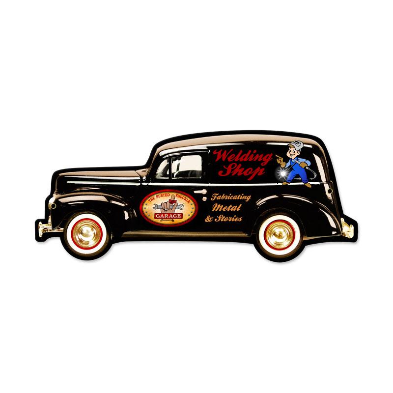 Welding Sedan Vintage Sign