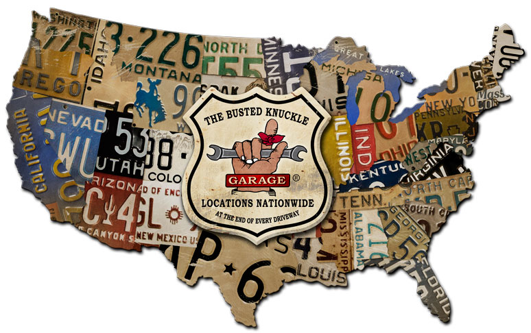 BKG USA LICENSE PLATE MAP Vintage Sign