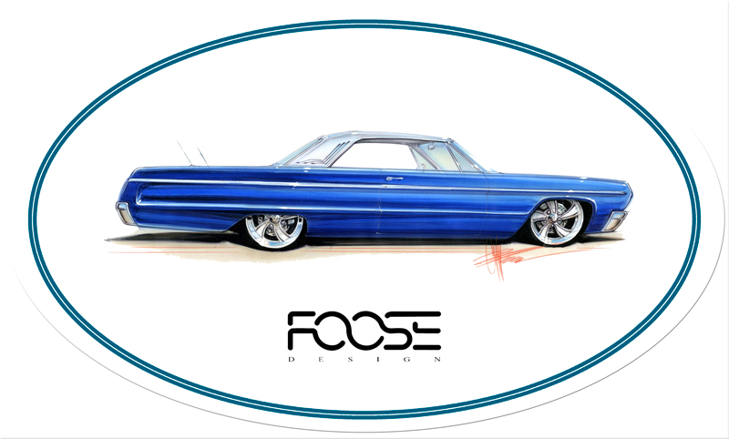 Foose Blue Car Vintage Sign