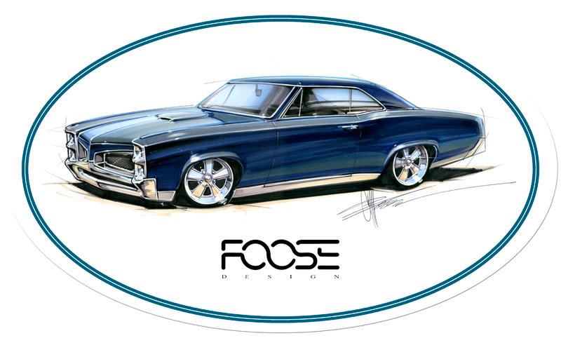 Foose Teal Car Vintage Sign