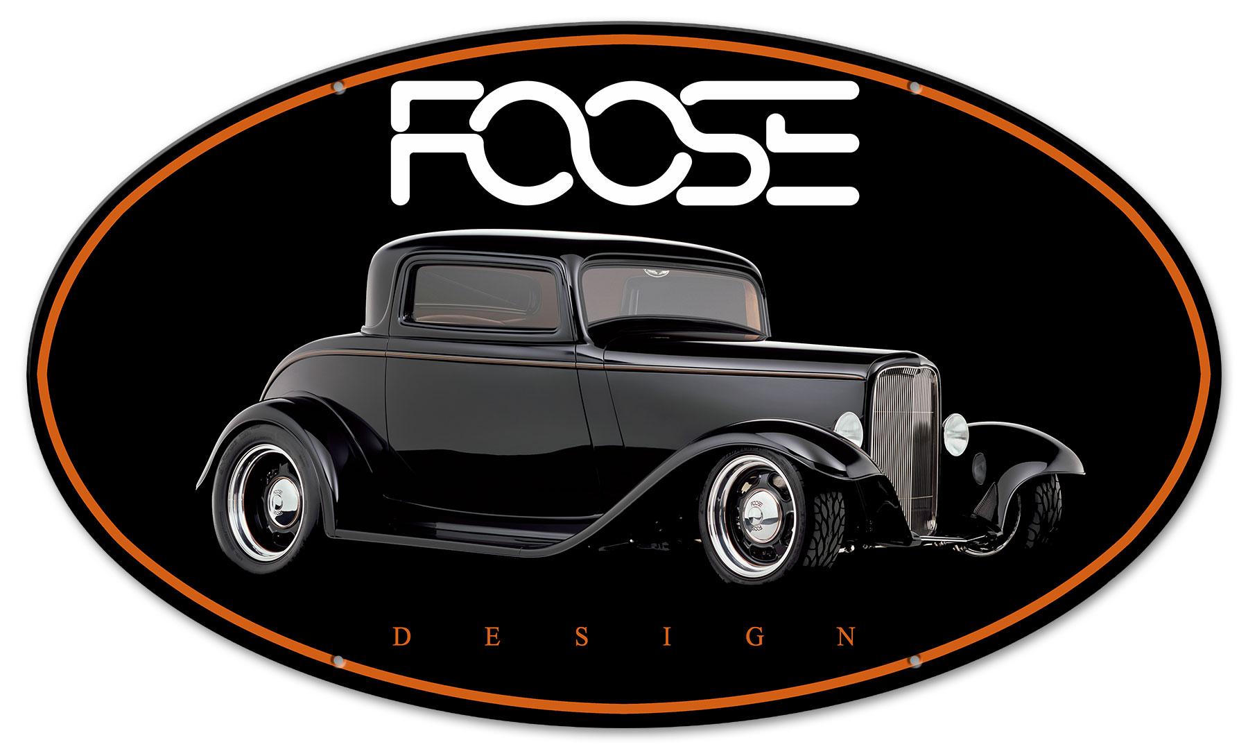 Foose Black Classic Vintage Sign