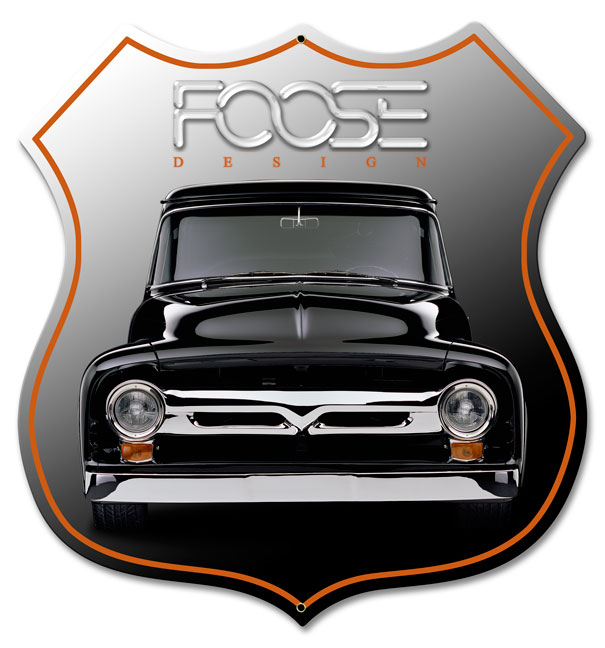 Foose Black Truck Vintage Sign