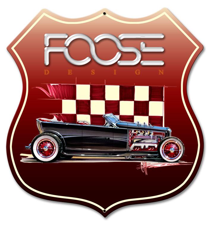 Foose Dragster Red Vintage Sign