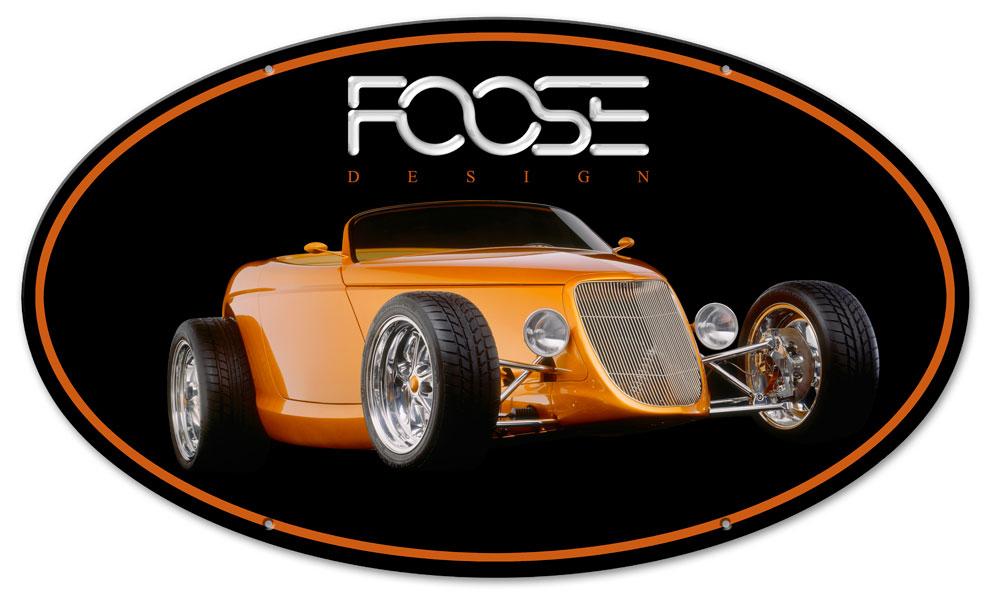 Foose Orange Dragster Vintage Sign