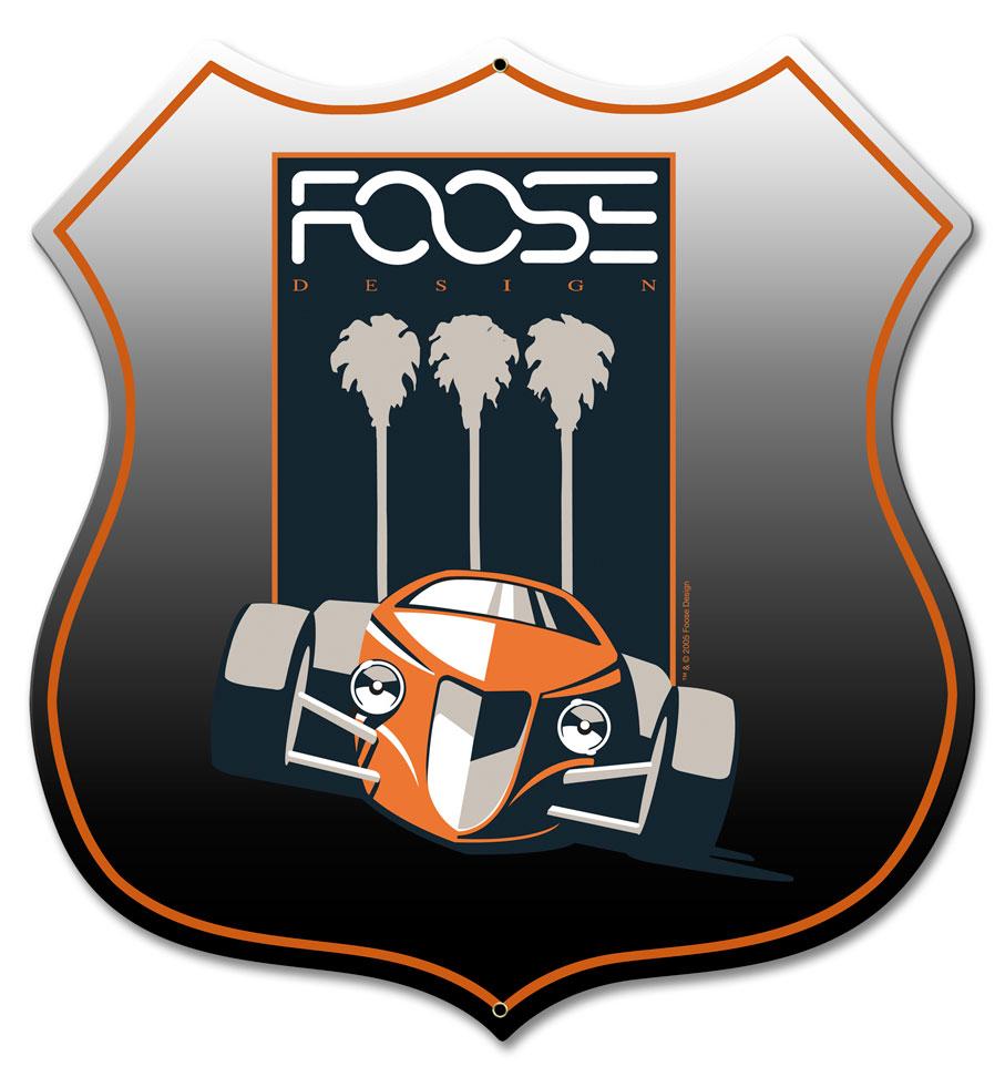 Foose Orange Palm Vintage Sign