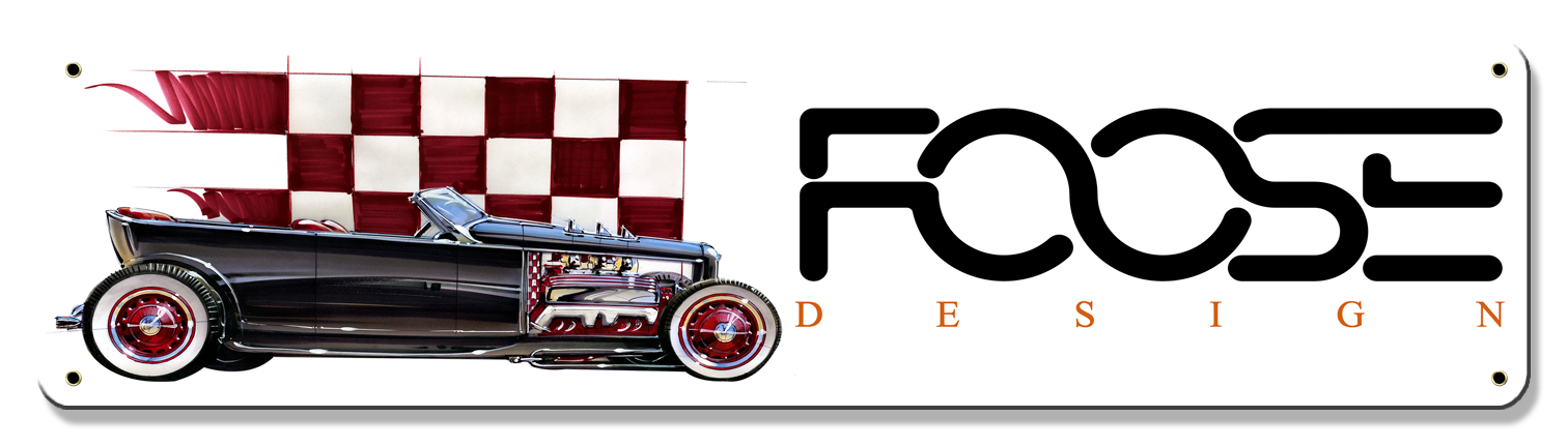 Foose Red Dragster Vintage Sign